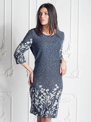 Красивое платье с цветочным узором