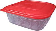 Судочек для пищевых продуктов полипропиленовый с крышкой 0,7 литра 14х14х5см