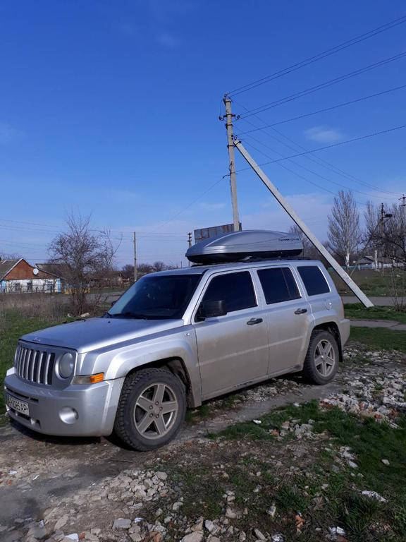 Бокс Terra Drive 480 на просветные рейлинги Jeep Patriot