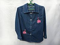 Рубашка джинсовая для девочки от 3 до 6 лет с розочками