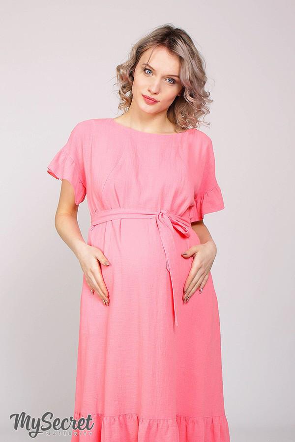 Комфортное розовое платье для беременных ZANZIBAR
