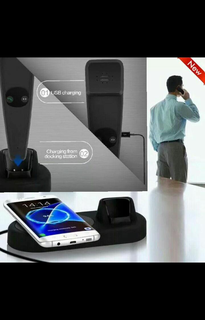 Inteligent Беспроводное bluetooth зарядное устройство ОРИГИНАЛ!! универсальное с  блютуз трубкой