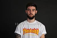 Футболка Trasher (flamed logo black)