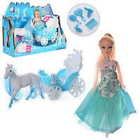 Кукла с каретой и лошадью