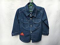 Рубашка джинсовая для мальчика от 3 до 6 лет с машинкой