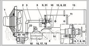 Запасні частини для газового нагрівача Ermaf GP 40