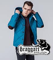 Braggart 1268   Мужская ветровка бирюзовая