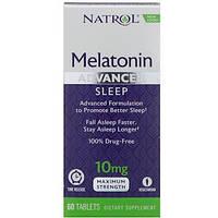 Natrol, Мелатонин, улучшенный сон, медленное высвобождение, 10 мг, 60 таблеток, фото 1