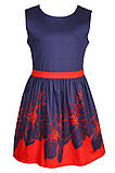 Очаровательное платье с ярким цветочным принтом  на юбке 146-152р, фото 2