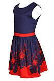 Очаровательное платье с ярким цветочным принтом  на юбке 146-152р, фото 4