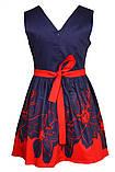 Очаровательное платье с ярким цветочным принтом  на юбке 146-152р, фото 5