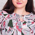 Летняя женская блуза на резинке больших размеров весна-лето 2018 - Штрихи - (код бл-171), фото 2