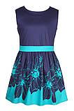 Прелестное платье с ярким цветочным принтом  на юбке 146-152р, фото 2