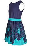 Прелестное платье с ярким цветочным принтом  на юбке 146-152р, фото 4