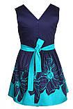 Прелестное платье с ярким цветочным принтом  на юбке 146-152р, фото 6