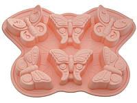 Форма силиконовая Бабочки 6 шт, фото 1