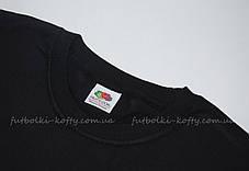 Мужская футболка плотная мягкая Чёрная Fruit of the loom 61-422-36 L, фото 2