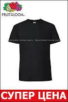 Мужская футболка плотная мягкая Чёрная Fruit of the loom 61-422-36 4XL, фото 3