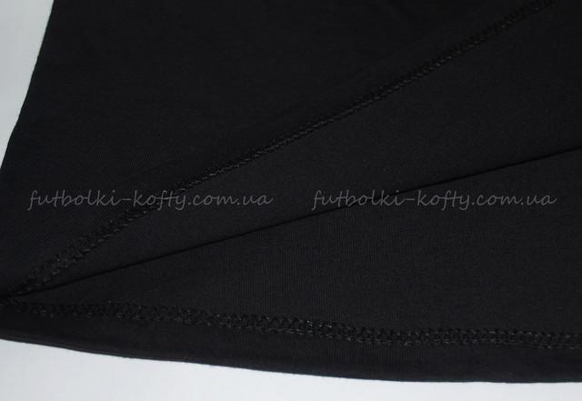 Чёрная мужская футболка плотная мягкая
