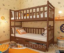 """Кровать двухъярусная детская подростковая от """"Wooden Boss"""" Александр (спальное место 80х160)"""