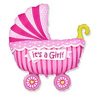 Гелиевые фигуры большие фольга коляска для девочек