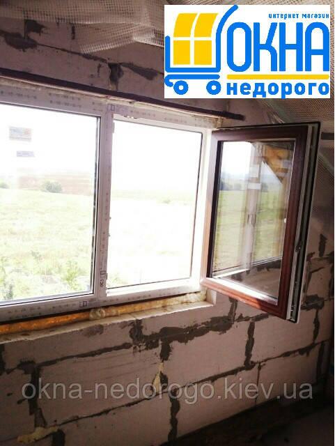 Ламинированные окна снаружи
