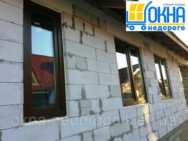 """Ламинированные окна снаружи - компания """"Окна Недорого"""""""