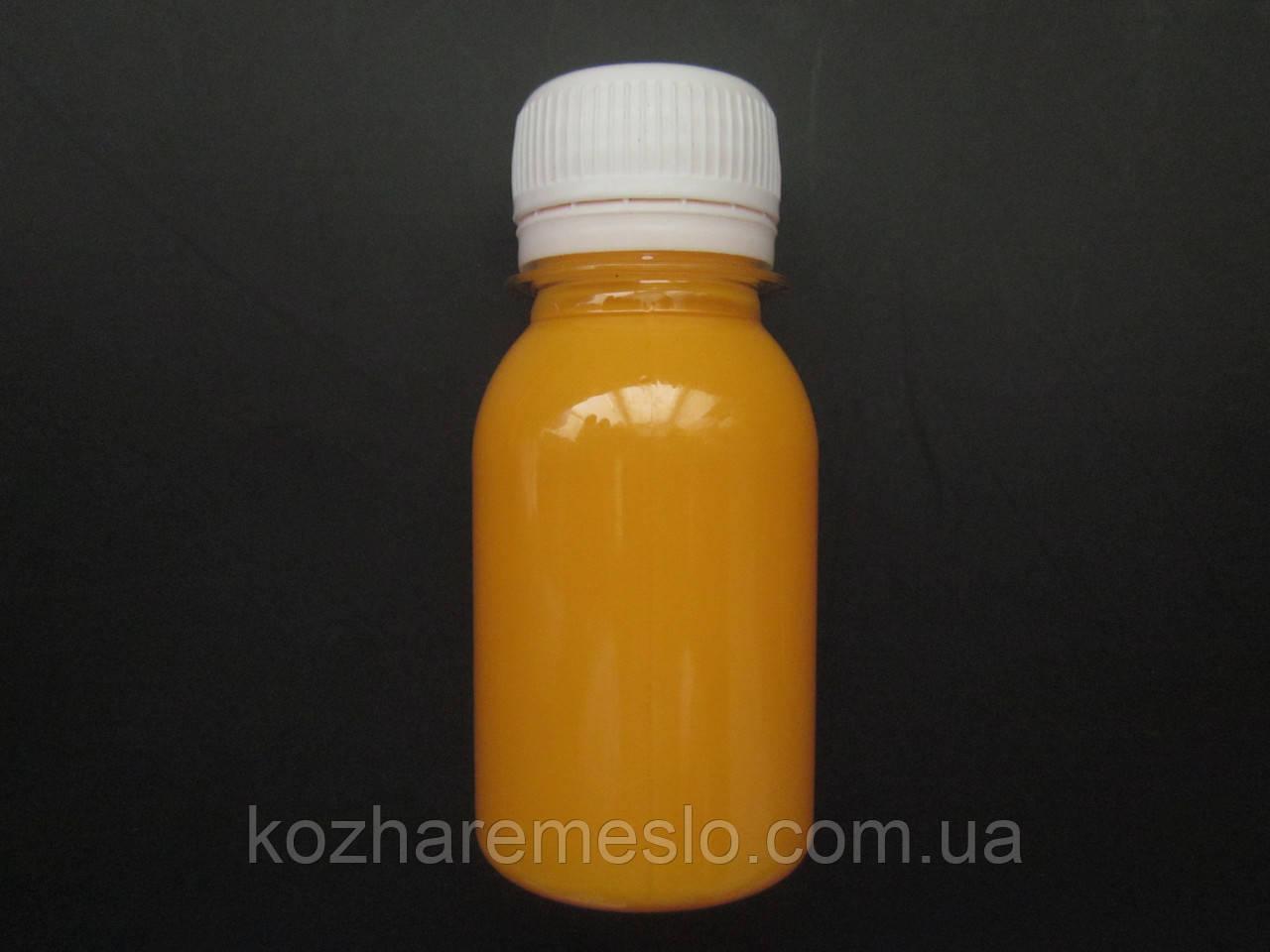 Краска для уреза (торца) кожи FENICE на силиконовой основе 200 грам апельсиновая
