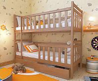 """Кровать двухъярусная детская подростковая от """"Wooden Boss"""" Александр Плюс (спальное место 80х160)"""