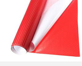 Карбонова плівка 3D рулон 10х20 см ЧЕРВОНА, фото 3