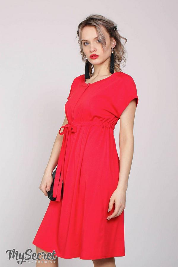 Классическое красное платье для беременных ROSSA