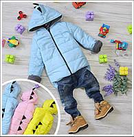 Модная детская куртка на флисе Дракоша