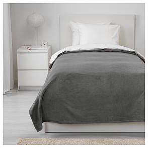 ТРАТТВИВА Покрывало, серый, 150x250 см 30349678   IKEA, ИКЕА, TRATTVIVA, фото 2