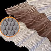 Лист профилированный ПВХ Salux Prisma бронзовая волна, фото 1