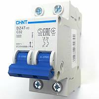 Автоматический выключатель 1p+N 32А DZ47-60 Chint