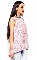 (S, M, L) Асиметрична літня рожева блуза Monika