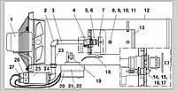 Запасные части для газового воздухонагревателя Ermaf GP 70
