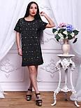 Женское стильное прямое платье-футболка с жемчугом (2 цвета), фото 3