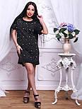 Женское стильное прямое платье-футболка с жемчугом (2 цвета), фото 5