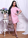 Женское стильное прямое платье-футболка с жемчугом (2 цвета), фото 7