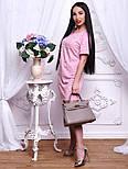 Женское стильное прямое платье-футболка с жемчугом (2 цвета), фото 8