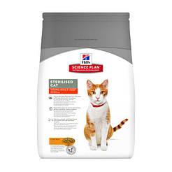 Hill's SP Fel Adult Young Sterilised Cat Ch-8кг для взрослых стерилизованных кошек от 6 месяцев до 6 лет