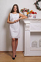 """Лёгкое женское платье из хлопка """"White"""" (р.S-L)"""