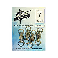 Вертлюжок Sea Fishing Ball Bearing Swivels 225lb 4шт
