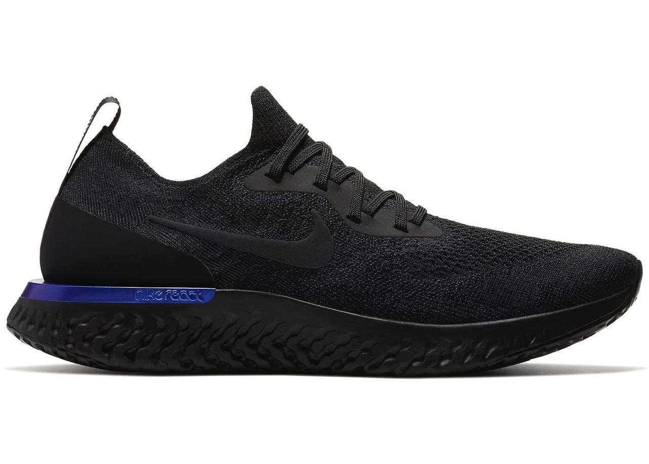 Мужские кроссовки Nike Epic React Flyknit Black Черные