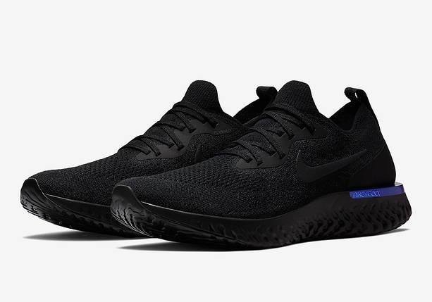 Мужские кроссовки Nike Epic React Flyknit Black Черные, фото 2