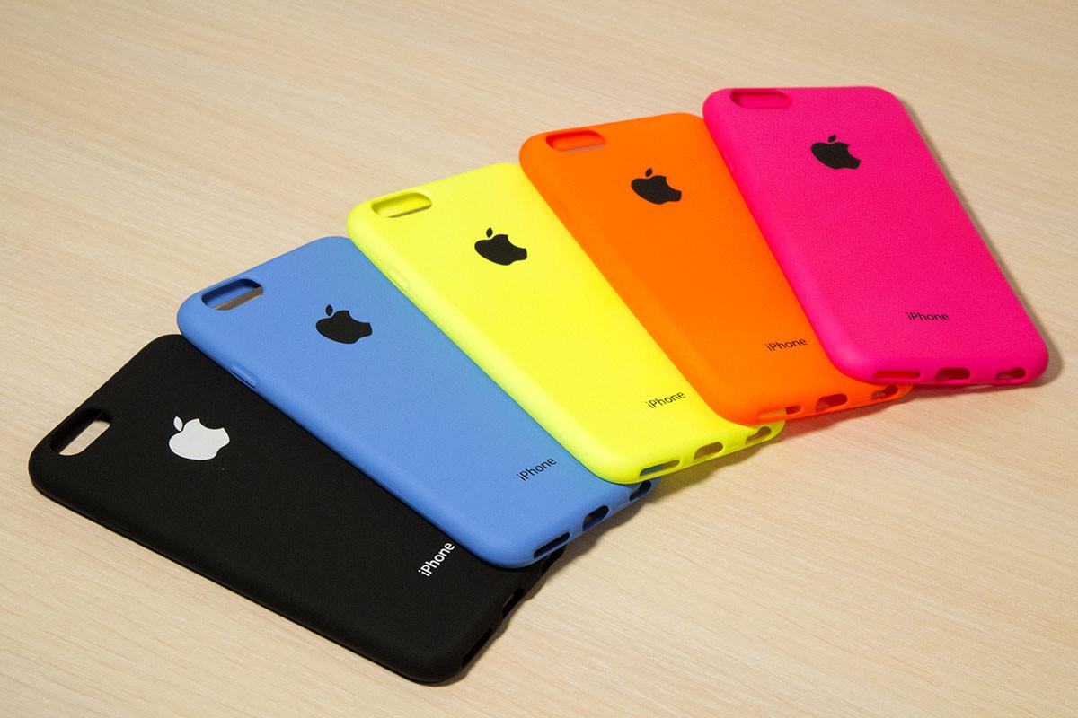 Силиконовый чехол с логотипом для iPhone 6 / 6S (4.7 Дюйма) (5 Цветов)