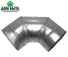 Угол 90 градусов из оцинкованного металла с диаметром 110