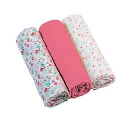 Пеленка BabyOno, муслин, 70х70 см, розовый, 3 шт. (348/02)