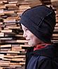 Детская однослойная шапка бини со швами наружу. Серый. Размеры: 52-54, 54-56см